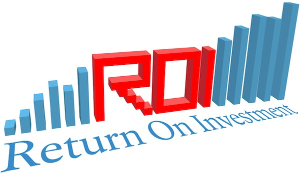 ROI Return on Investment business bar chart